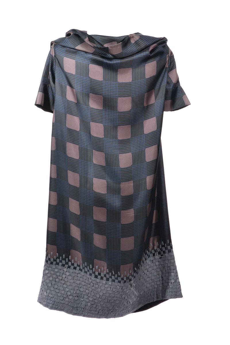 dries van noten stylishes kleid aus reiner seide mit paillettensaum gr l dries van noten. Black Bedroom Furniture Sets. Home Design Ideas