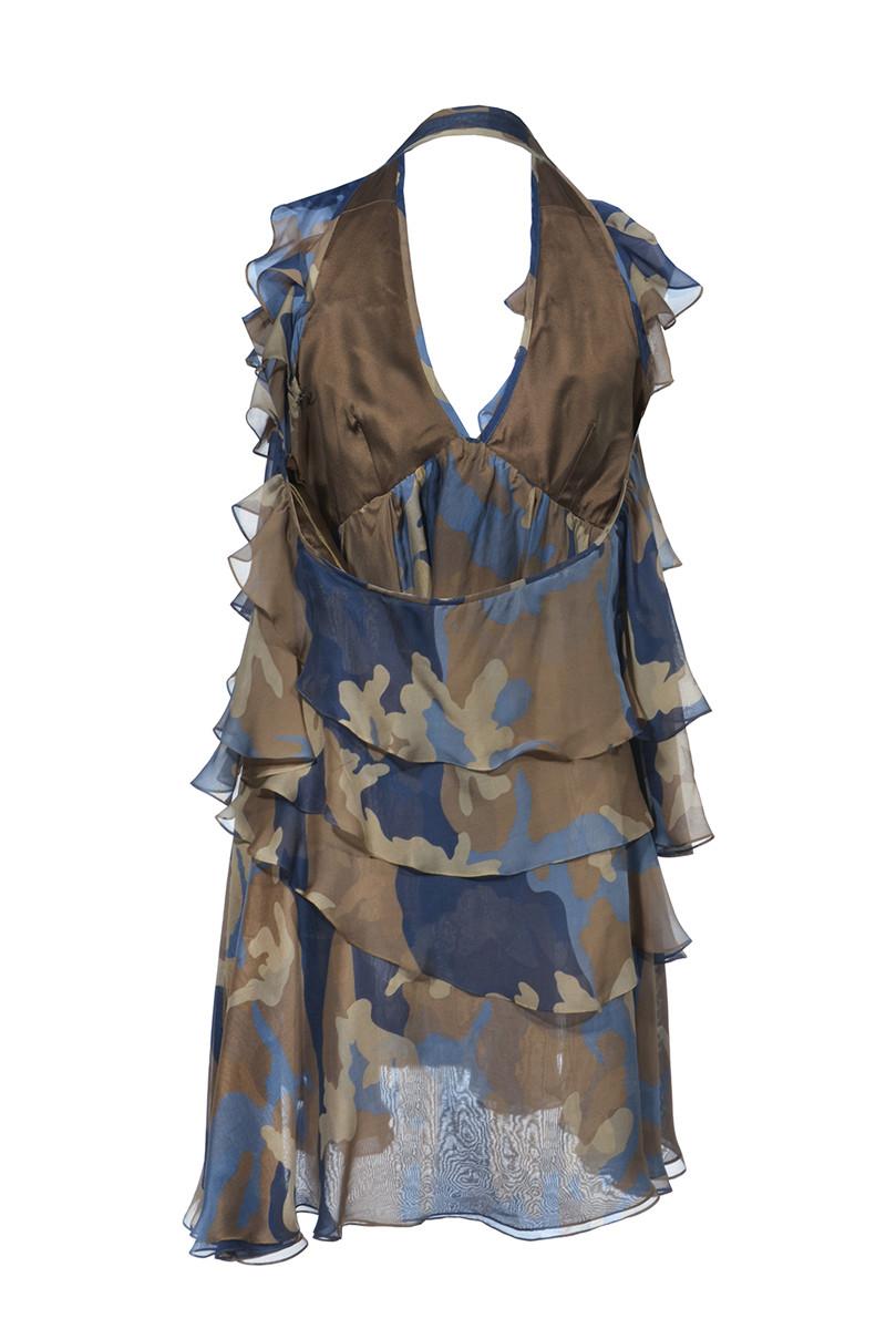 competitive price fcba3 65407 Plein Sud | Camouflage Volantkleid, Gr. XS | Plein Sud Dress ...
